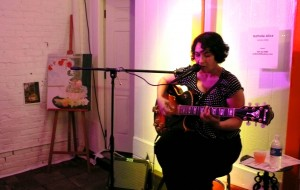 Guest singer Nathalie Alice sings at PAINT:LAB